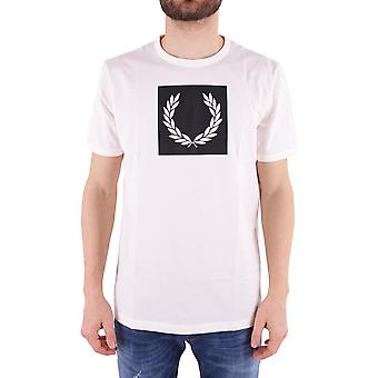 Fred Perry men's FPM360125760 white cotton T-Shirt