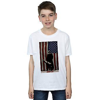 Johnny Cash T-Shirt Boys amerikanische Flagge