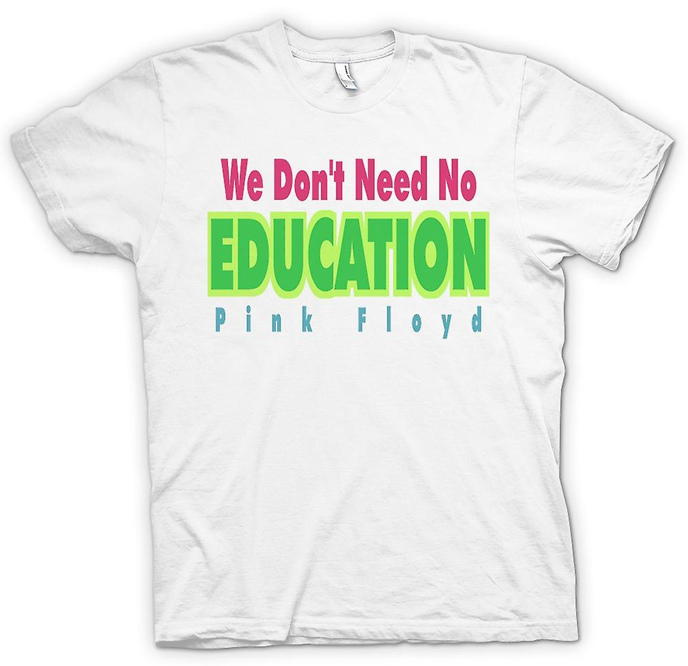 Womens T-shirt - We Don't Need No Eductation Pink Floyd