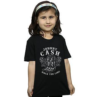Johnny Cash-Mädchen gehen die Linie Schuhe T-Shirt