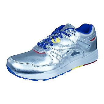 Reebok Classic Ventilator Affiliates Mens Leather Trainers / Shoes - Silver