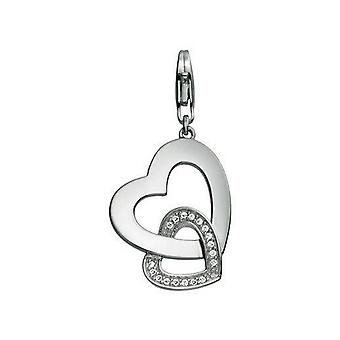 Esprit Anhänger Charms Silber Zirkonias Two Hearts XL ESZZ90535A000
