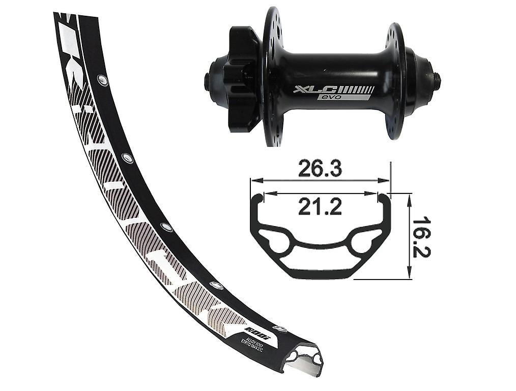 Disque de Rodi noir Rock roue XLC 29″ + XLC Evo 6 trous