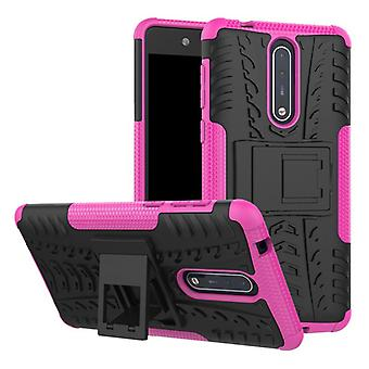Hybrid case 2 piece SWL outdoor Pink for Nokia 8 accessories bag case cover protection