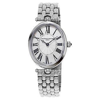 Frederique Constant Womens Art Deco Oval Stainless Steel Bracelet FC-200MPW2V6B Watch