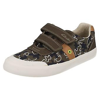 Junior Boys Clarks Canvas Pumps Comic Zone Jnr