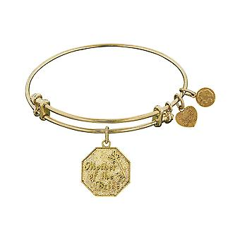 Stipple Finish Brass Mother of  the Bride Angelica Bangle Bracelet, 7.25