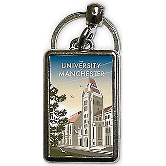 Llavero metálico de la Universidad de Manchester