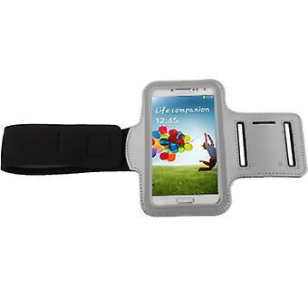 Bag strap for Samsung Galaxy S4 mini i9190 silver / grey