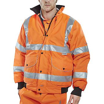 B-Dri Hi Vis Waterproof Super Bomber Jacket Orange. Go/Rt 3279 RIS3279 - Bd71