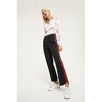 Jovonna Jeans With Red Side Stripe Detail