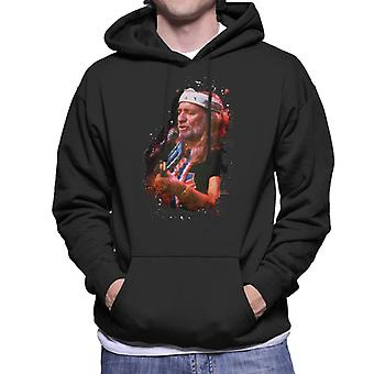 TV Zeiten Willie Nelson Live Paint Splatter Herren Sweatshirt mit Kapuze