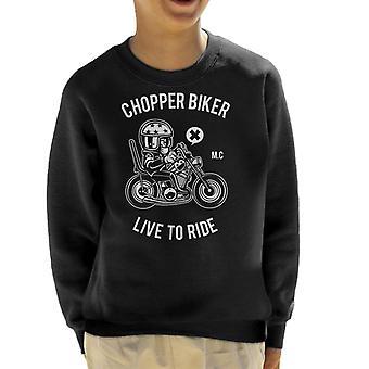 Chopper Biker Live å ri barneklubb Sweatshirt