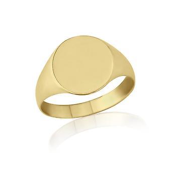 Звезда обручальные кольца-овальные перстень 9ct желтого золота легкий вес