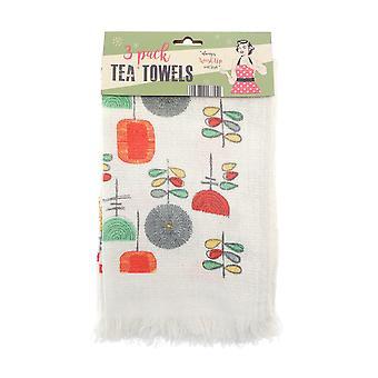Country Club Vintage Utensils Tea Towels