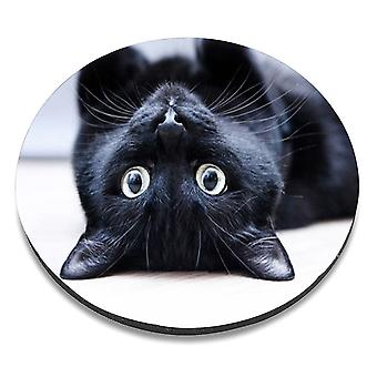 i-Tronixs - Cat Printed Design Non-Slip Round Mouse Mat for Office / Home / Gaming - 12