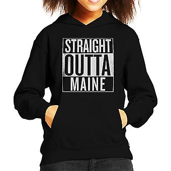 Witte tekst Straight Outta Maine Amerikaanse Staten Kid de Hooded Sweatshirt