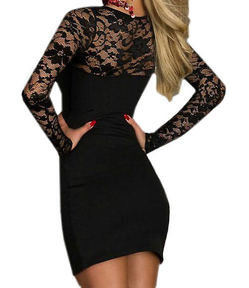 Waooh - Fashion - Short Dress neckline lace
