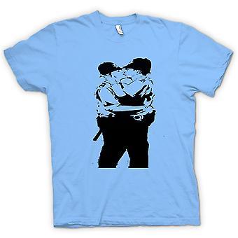 Womens T-shirt - Banksy Graffiti Art - Gay Police