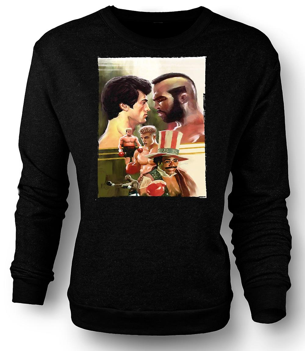 Mens Sweatshirt steinete - boksing filmen - Collage