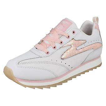 Girls Hi-Tec Lace Up Trainers Vegas Candy
