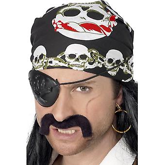 Mens Skull & Crossbones Pirate Bandana Fancy Dress Accessory