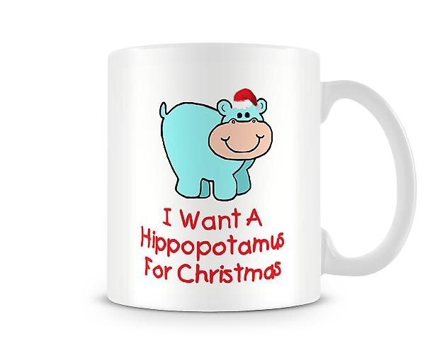 Hippopotamus For Christmas Mug