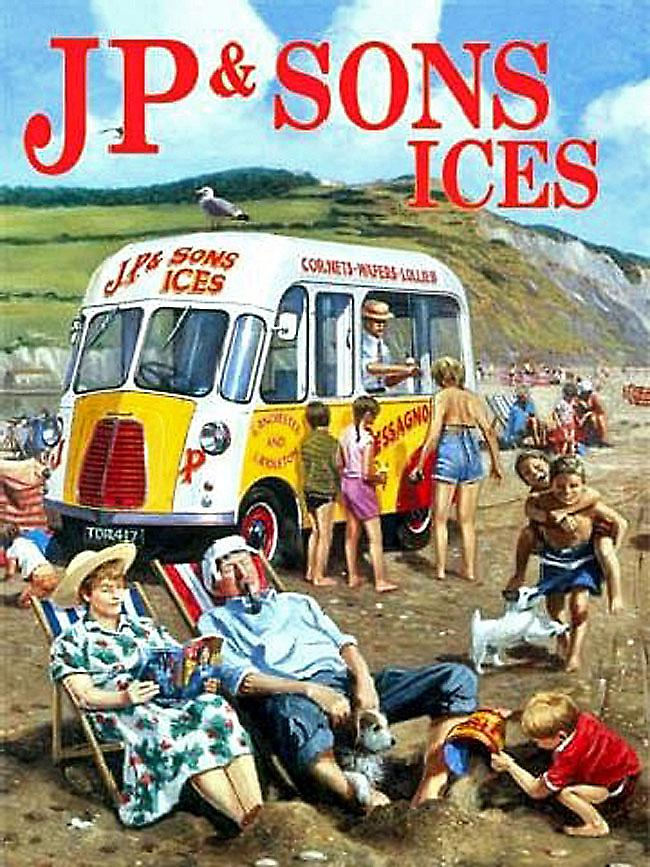 JP & Son Ice Cream Van metal sign  (og 3040)