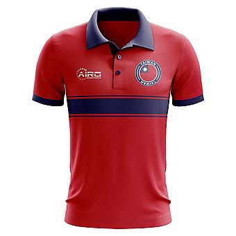 Taiwan Concept Stripe Polo Shirt (Red)
