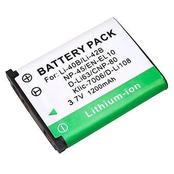 Batterij voor Olympus LI-40B LI-42B Nikon Coolpix S200 Fuji NP-45 nl-EL10 Stylus 850 710 Finepix Z10FD