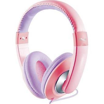 Vertrouwen Sonin kinderen koptelefoon Over-the-ear Volume limiter, volumeregeling roze, paars