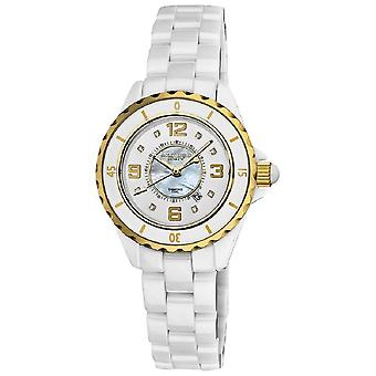 Akribos XXIV Women's Quartz Ceramic White Bracelet Watch AK485WTG