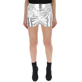 Laneus Silver Patent Leather Shorts