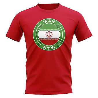 Iran fotboll Badge T-shirt (röd)