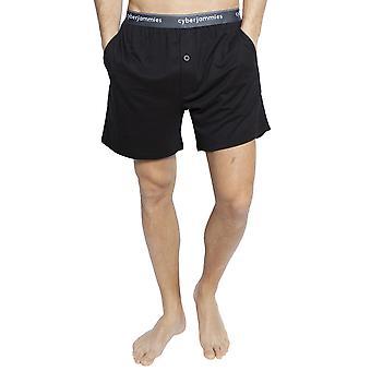 Cyberjammies 6396 Men's Isaac Black Cotton Pyjama Short