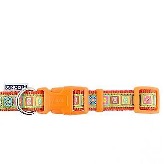 アンチョールのオレンジ色の正方形の調節可能な犬の首輪 - 20-30 cm