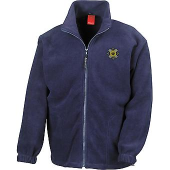 Scots Guards-licensierade brittiska armén broderade tungvikt fleece jacka