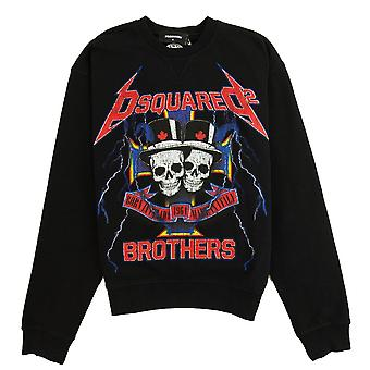 Dsquared2 Skull Brothers Sweatshirt Black 900