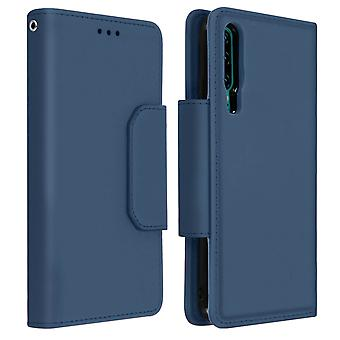 Magnetic Detachable Wallet Folio Case for Huawei P30 - Dark Blue