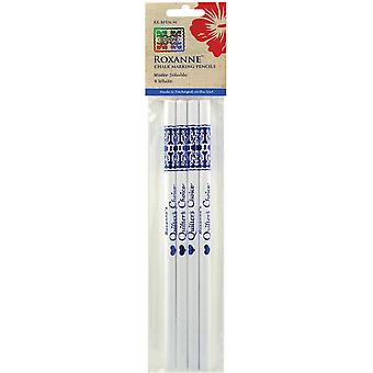 Water Soluble Chalk Marking Pencils 4 Pkg White Rx Bpen W