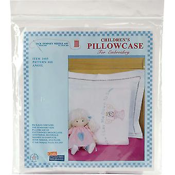 Children's Stamped Pillowcase With White Perle Edge 1 Pkg Angel 1605 68