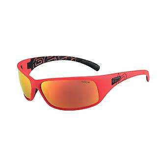 Bolle Recoil Sunglasses (Matt Black/Red  Frame Polarized TNS Fire oleo AF Lens)