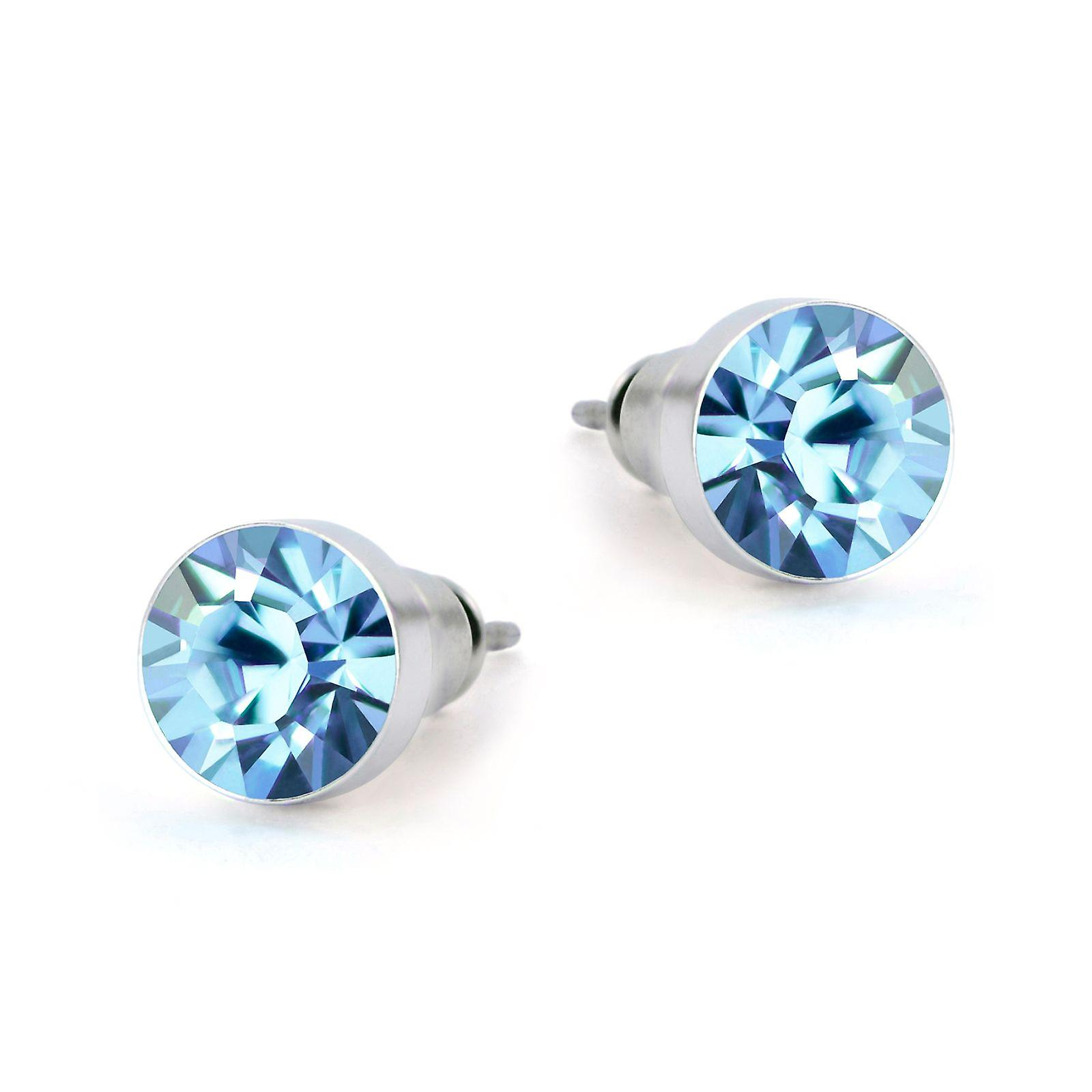 Light blue Swarovski earrings EMB8.2