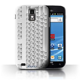 STUFF4 Case/Cover for Samsung Galaxy S2 Hercules/T989/PC Keyboard/White/Keys/Buttons