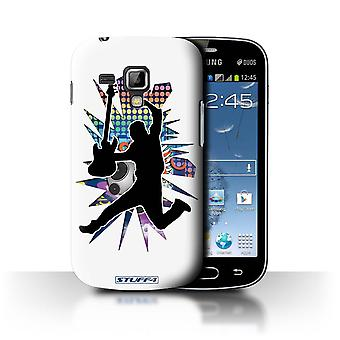 STUFF4 Case/Cover for Samsung Galaxy Trend Plus/S7580/Leap/Jump White/Rock Star Pose