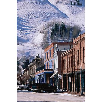 Storefronts Aspen Colorado Poster Print