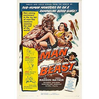 Man Beast Movie Poster Print (27 x 40)