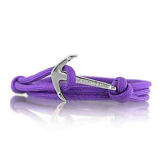 Vikings silver line anchor strap nylon purple with silver anchor