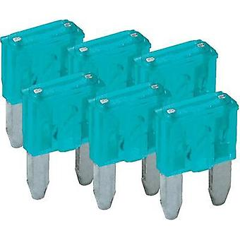 Mini blade-type fuse, 6-pack 15 A Blue FixPoint SORTIMENT 1027-15A KFZM-