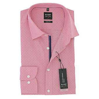 Olympus mens business shirt level 5 pink body fit New York Kent comfort stretch size 37